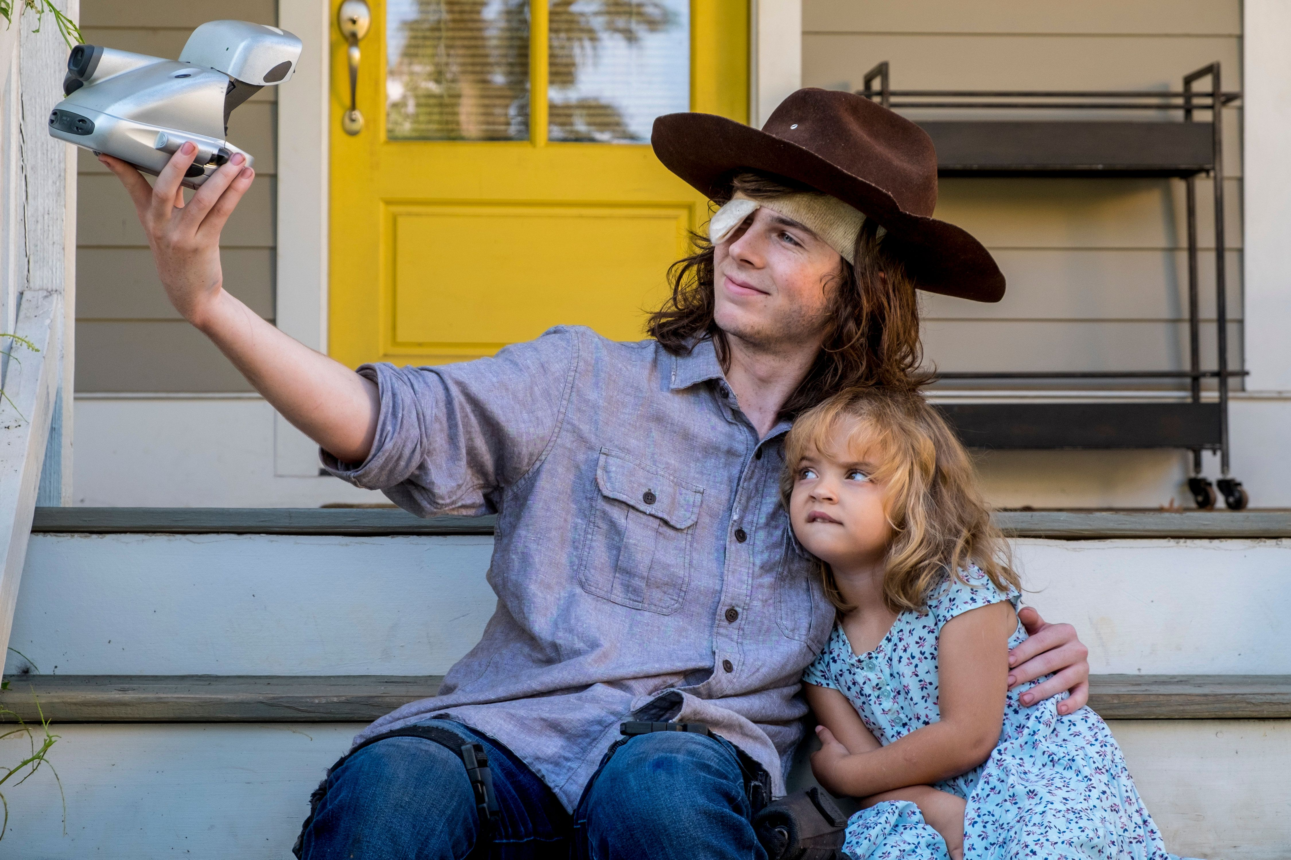 Chandler Riggs as Carl Grimes - The Walking Dead _ Season 8, Episode 9 - Photo Credit: Gene Page/AMC