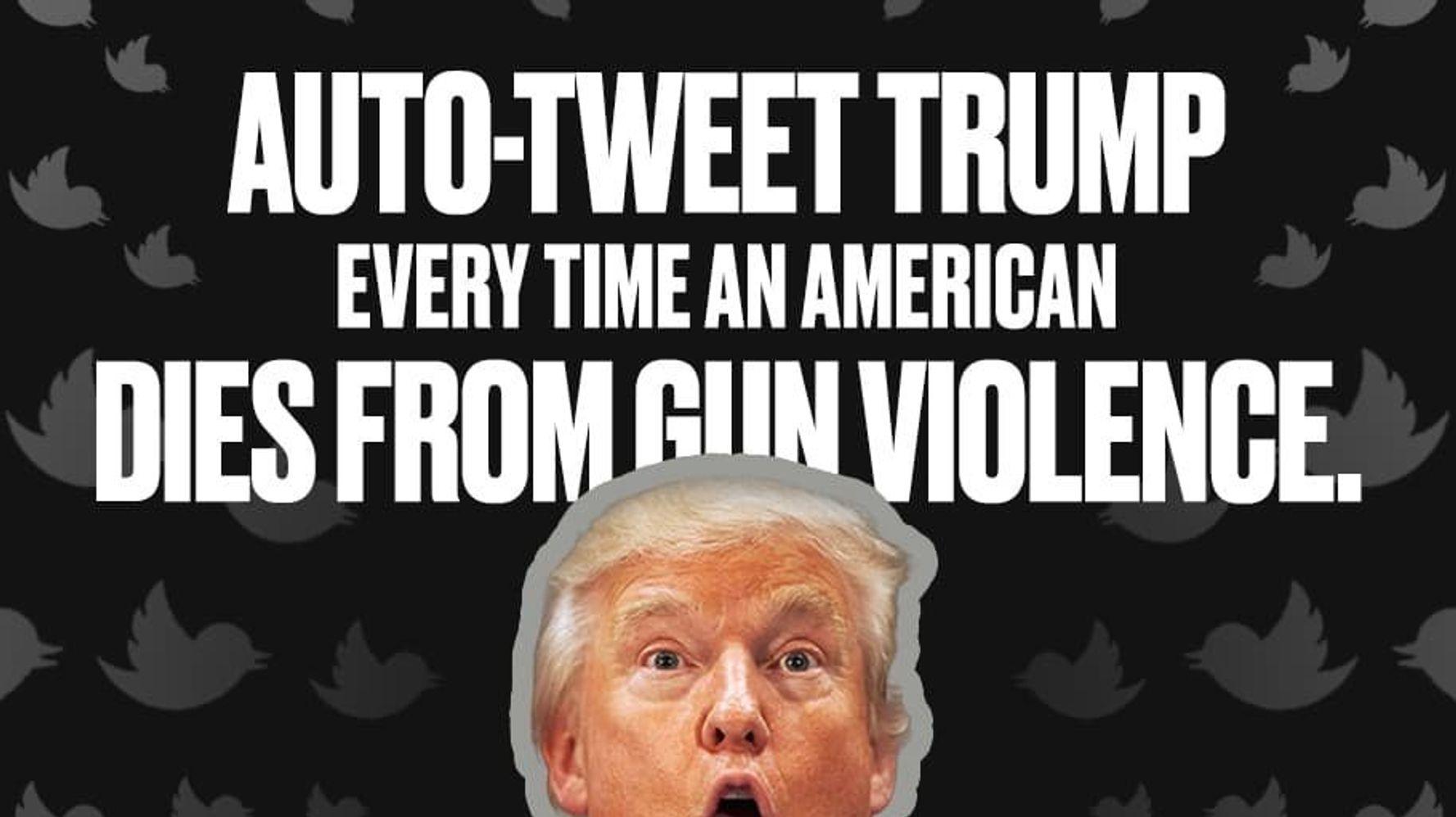 #BackfireTrump Will Tweet Every Gun Death At The President