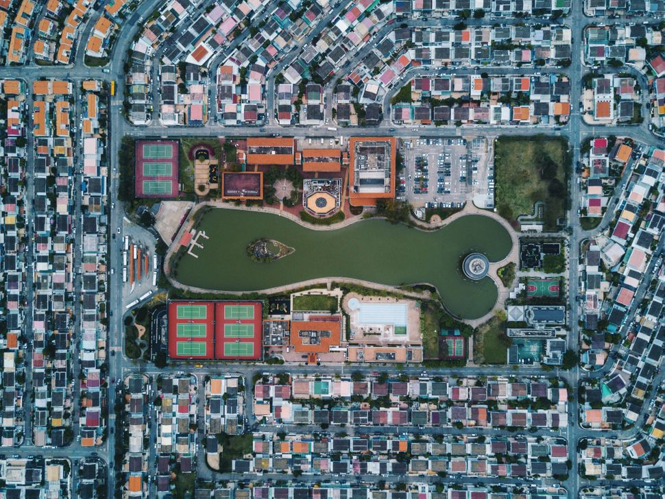 Taken on the outskirts of Hong Kong, this large residential area is supposed to resemble North American-type suburbs wit