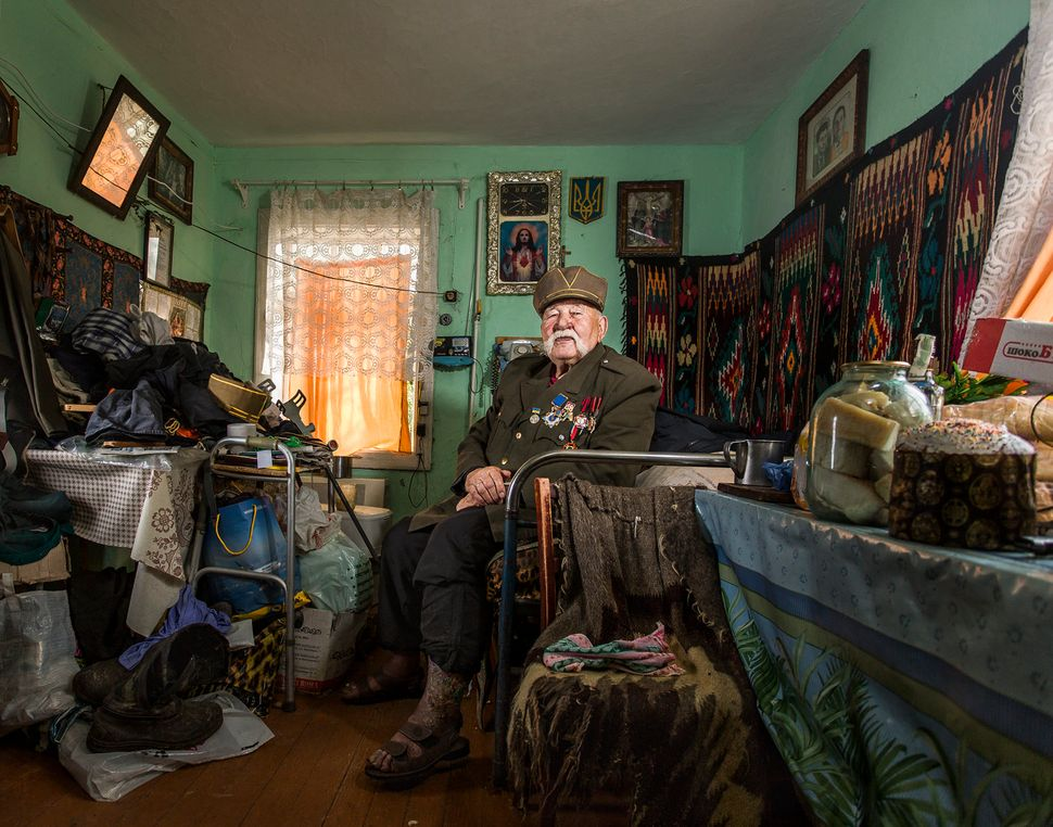 """Veterans"" is a series of portraits of people who took part in World War II."