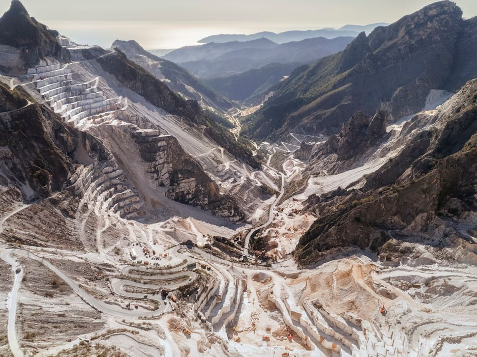 "A view of Torano's ""marble valley"" in the Apuan Alps, one of Italy's most marble-rich areas."