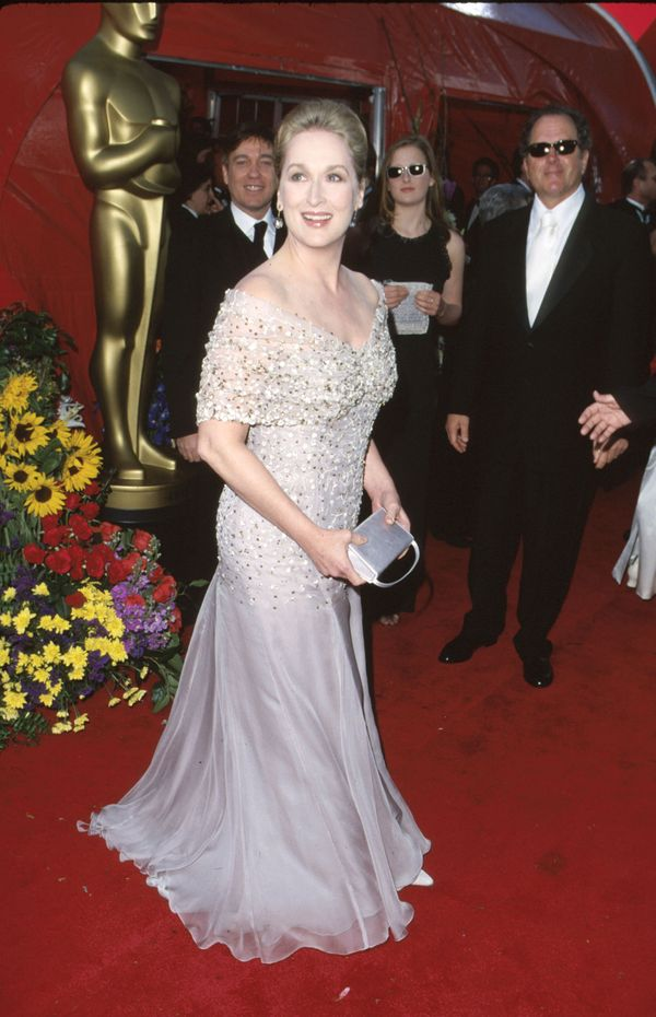 For the 71st Academy Awards, Streep looked beautifully regal in this sparkling pale lavender Valentino gown.
