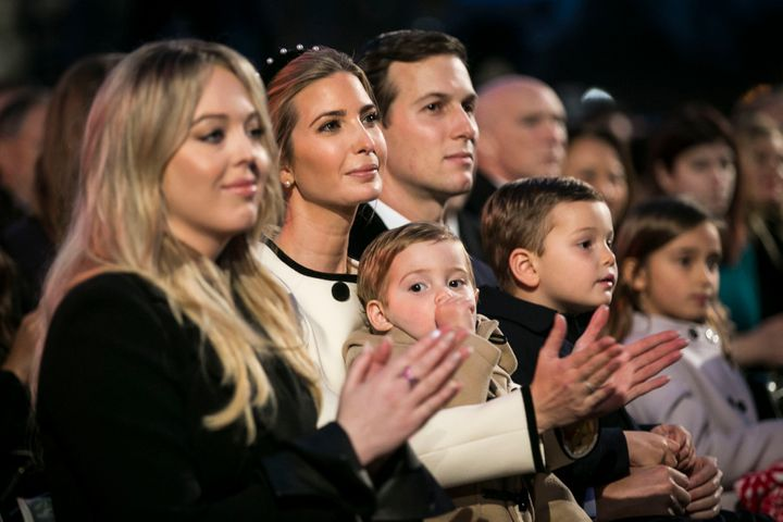 The president's familyhas wealthy forebears to thank forits boost in life. From left, Tiffany Trump, Ivanka Trump