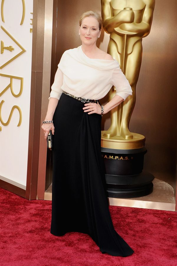 In 2014, Streep wore yet another Lanvin design, this time more simple than sparkling, but equally as beautiful.
