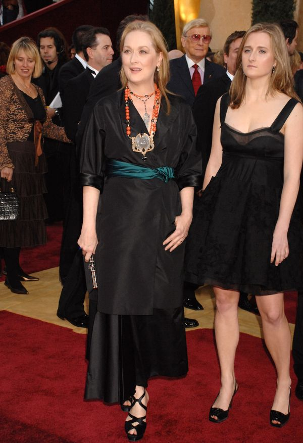 Streep, with daughter Grace Gummer, channeled her inner editrix for the 2007 Oscars ceremony, where she was nominated for her