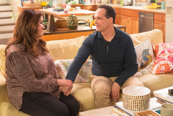 "Katy Mizon and Diedrich Bader on ""American Housewife."""