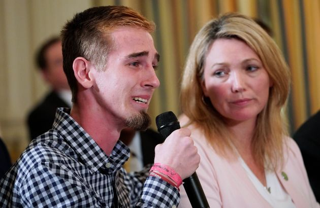 Parkland school shooting survivor Samuel Zief joined Nicole Hockley, whose child was killed in the...