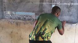 가나의 한 교사가 컴퓨터 없이 MS워드를 가르친