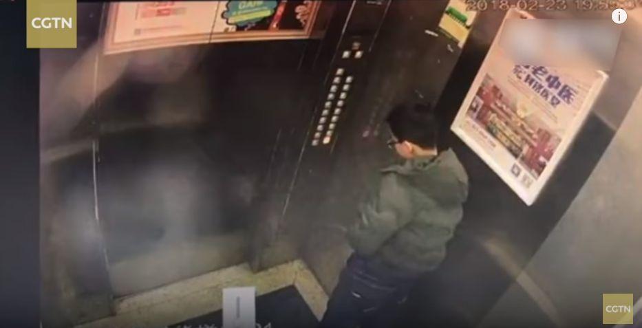 엘리베이터 버튼에 소변 본 소년의