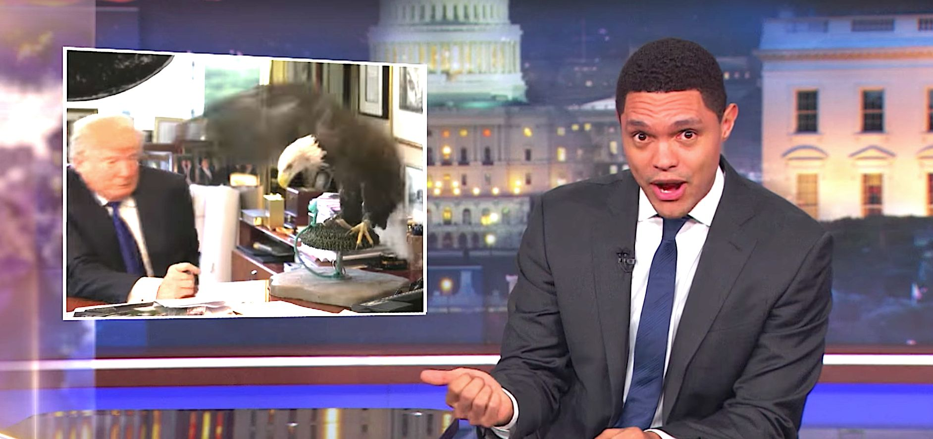 Trevor Noah Spells Out Why Donald Trump Wouldn't Actually Confront A School