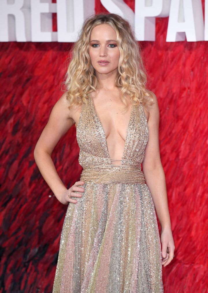 """Jennifer Lawrence attends the European Premiere of """"Red Sparrow."""""""