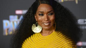 HOLLYWOOD, CA - JANUARY 29:  Actress Angela Bassett  arrves for the Premiere Of Disney And Marvel's 'Black Panther' held at Dolby Theatre on January 29, 2018 in Hollywood, California.  (Photo by Albert L. Ortega/Getty Images)