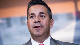 UNITED STATES - JUNE 15: Rep. Ben Ray Lujan, D-N.M., conducts a news conference in the Capitol Visitor Center on the Deferred Action for Childhood Arrivals (DACA) program and 'anti-immigrant' GOP amendments to the defense spending bill, June 15, 2016. (Photo By Tom Williams/CQ Roll Call)