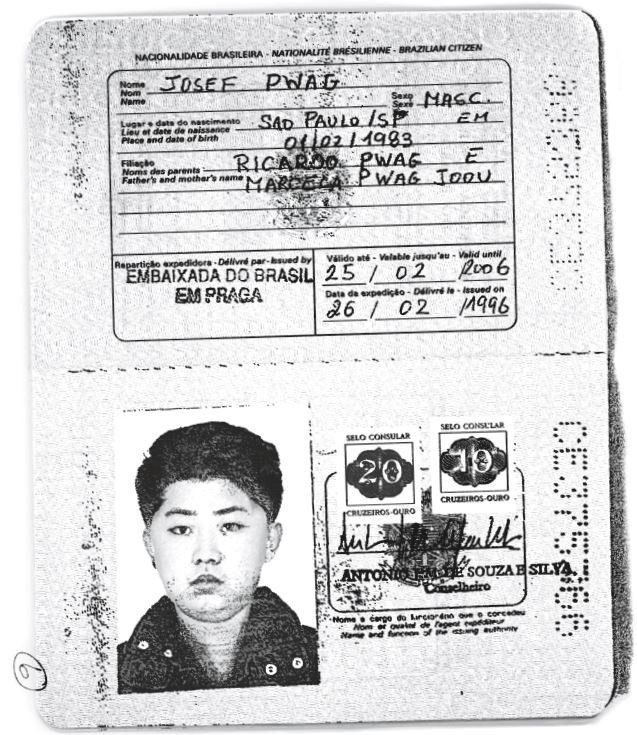 A scan obtained by Reuters shows an authentic Brazilian passport issued to North Korea's leader Jim Jong-un. Handout via REUTERS