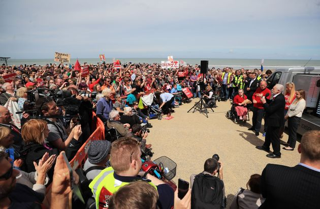 A Labour rally in north