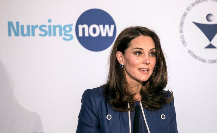 The Duchess of Cambridgereportedly said Tuesday that Prince William may be a little less ready for the birth of their t
