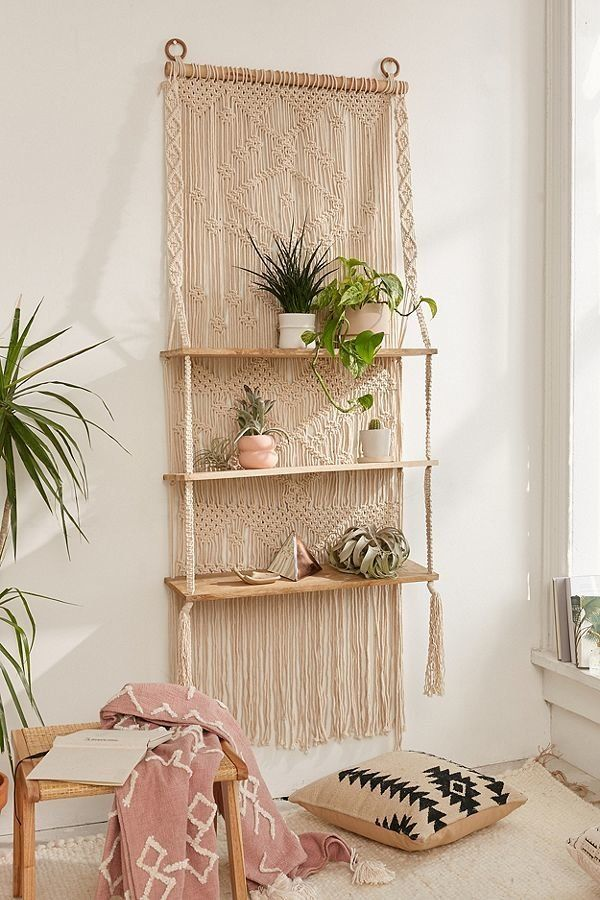 """Get it at <a href=""""https://www.urbanoutfitters.com/shop/macrame-hanging-shelf?category=SEARCHRESULTS&color=012"""" target=""""_"""