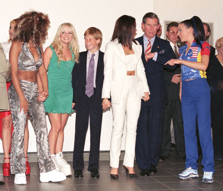 Prince Harry and the group at a concert in South Africa.