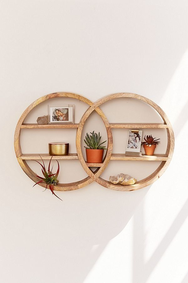 """Get it at <a href=""""https://www.urbanoutfitters.com/shop/dahlila-double-round-wall-shelf?category=SEARCHRESULTS&color=020"""""""