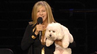 (EXCLUSIVE, Premium Rates Apply) Barbra Streisand and her dog Sammie (Photo by KMazur/WireImage)
