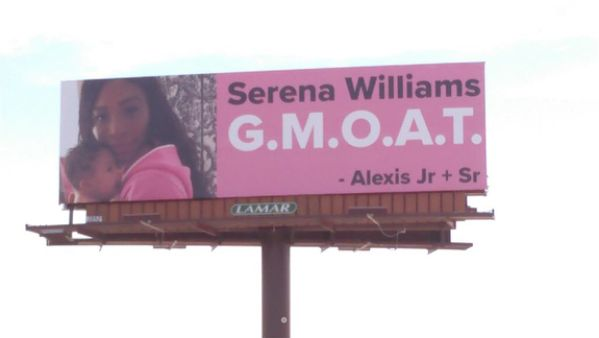 Williams said the billboards made her cry.