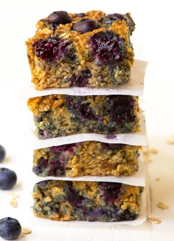 "<strong>Get the <a href=""https://www.wellplated.com/quinoa-breakfast-bars/"" target=""_blank"">Quinoa Breakfast Bars</a> recipe"