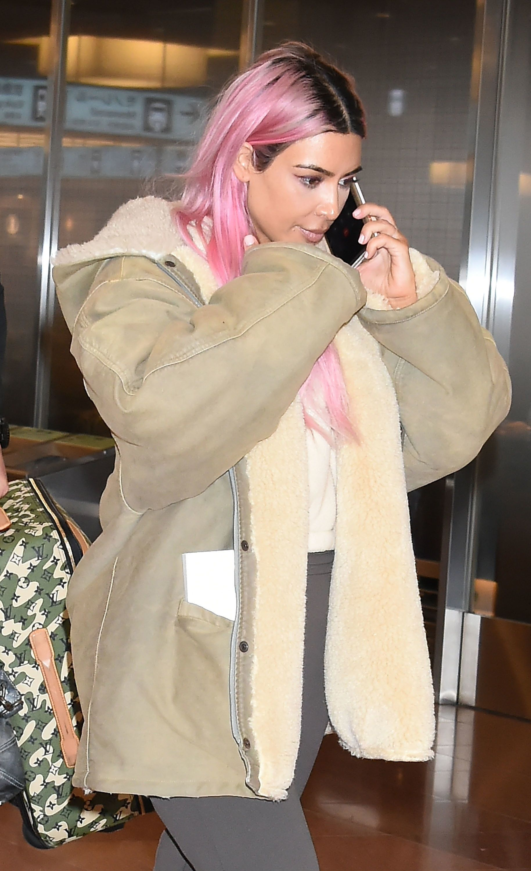 TOKYO, JAPAN - FEBRUARY 26:  Kim Kardashian is seen upon arrival at Haneda Airport on February 26, 2018 in Tokyo, Japan.  (Photo by Jun Sato/GC Images)