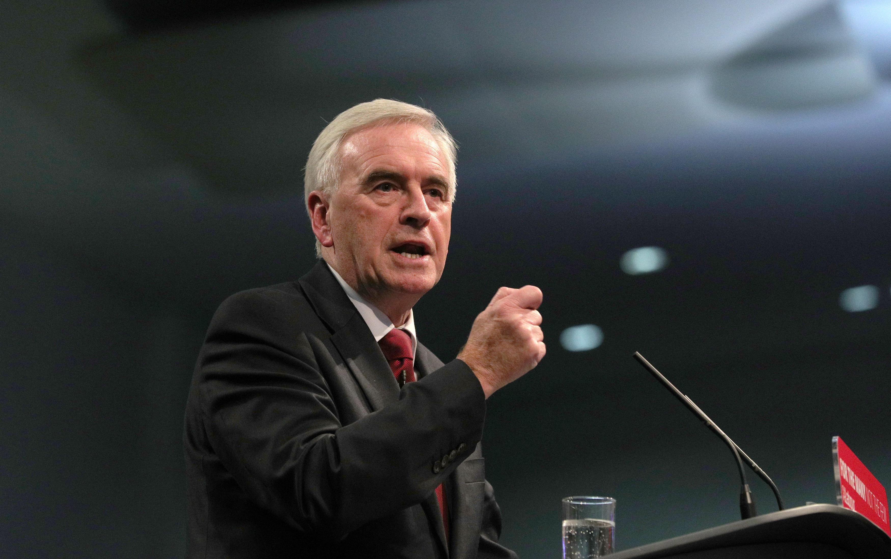 <strong>Shadow chancellor John McDonnell</strong>
