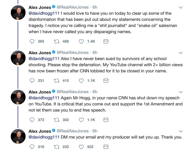 Infowars' Alex Jones Upset That YouTube's Banned Him Over School Shooting Conspiracy
