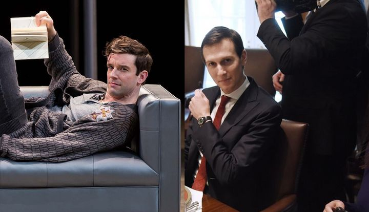 Prince Hamlet (portrayed here by Michael Urie) and Jared Kushner, President Donald Trump's son-in-law, were both represe