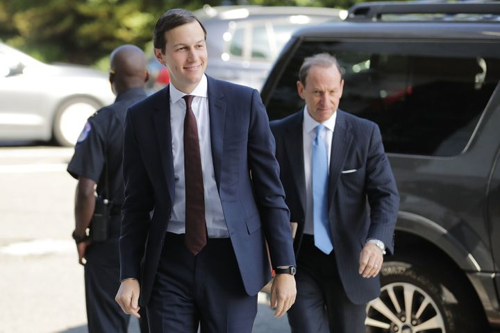 Jared Kushner, accompanied by attorney Abbe Lowell.