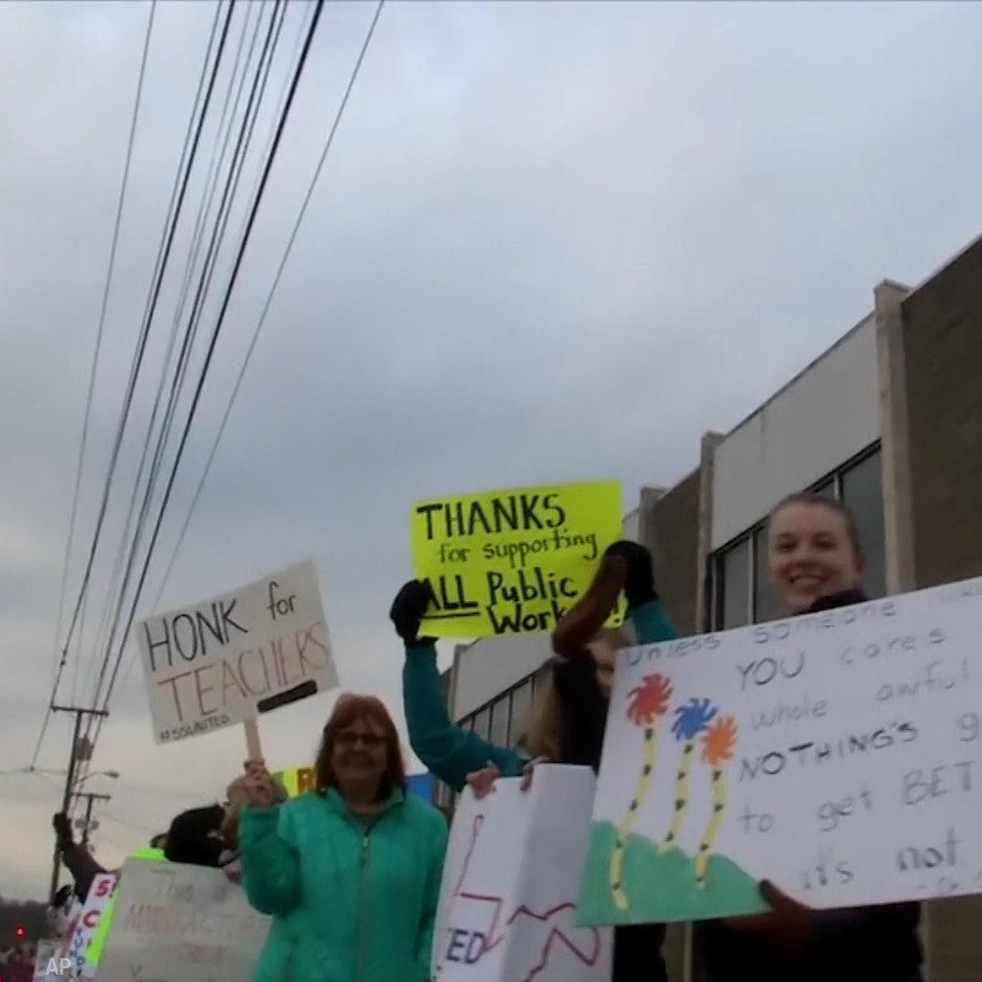 West Virginia teachers are on strike