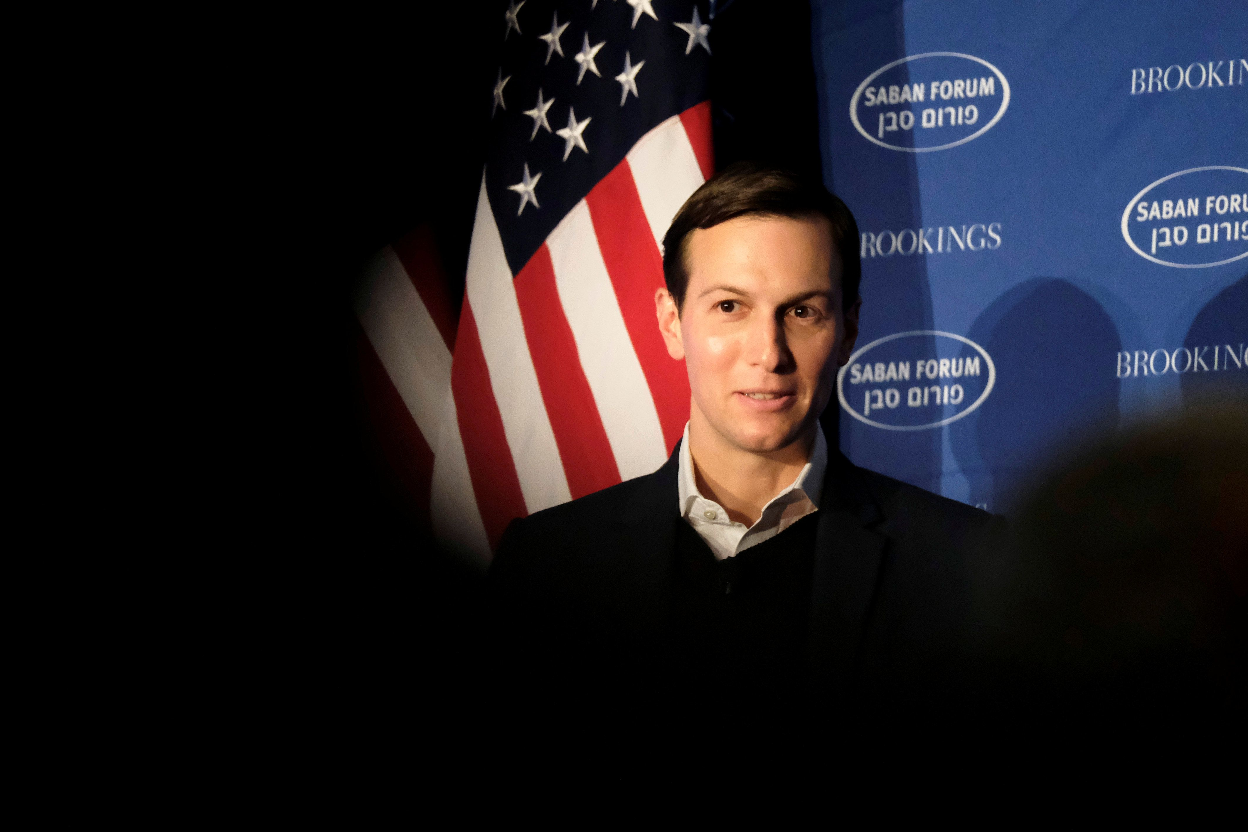 White House senior adviser Jared Kushner delivers remarks on the Trump administration's approach to the Middle East region at the Saban Forum in Washington, U.S., December 3, 2017. REUTERS/James Lawler Duggan