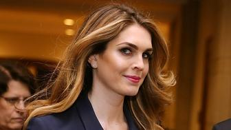 WASHINGTON, DC - FEBRUARY 27:  White House Communications Director and presidential advisor Hope Hicks (2nd L) arrives at the U.S. Capitol Visitors Center February 27, 2018 in Washington, DC. Hicks is scheduled to testify behind closed doors to the House Intelligence Committee in its ongoing investigation into Russia's interference in the 2016 election.  (Photo by Chip Somodevilla/Getty Images)
