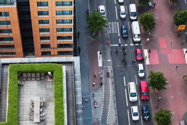 Berlin-Mitte: Verstopfte Straßen gehören hier zum