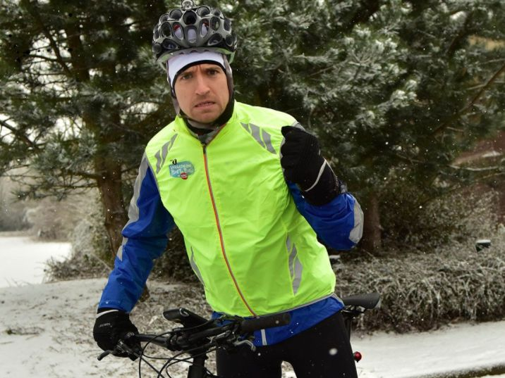 The UK Snow Is Making Greg James's Sport Relief Challenge Ridiculously