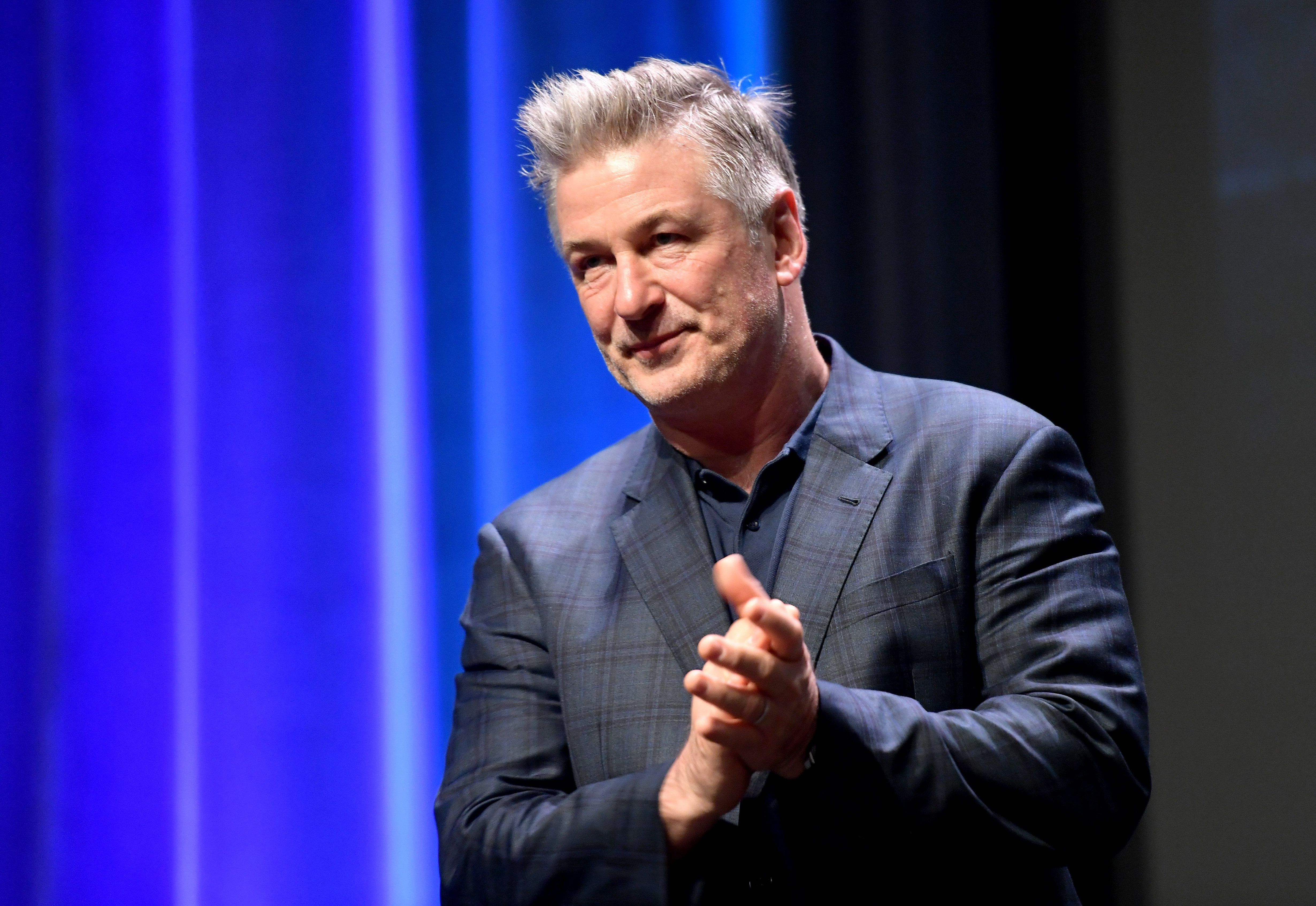 Alec Baldwin, pictured last month, said he looked forward to doing a talk show on camera.