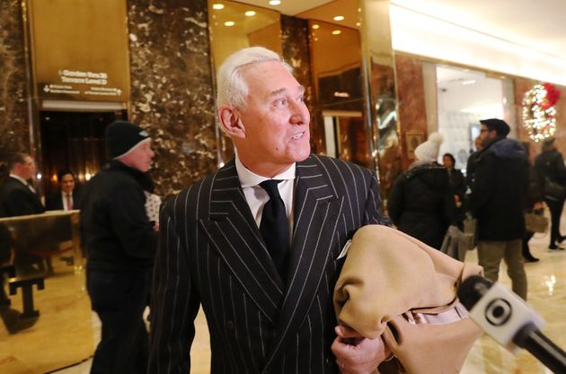 Roger Stone bei einem Interviewtermin im Trump-Tower im Dezember