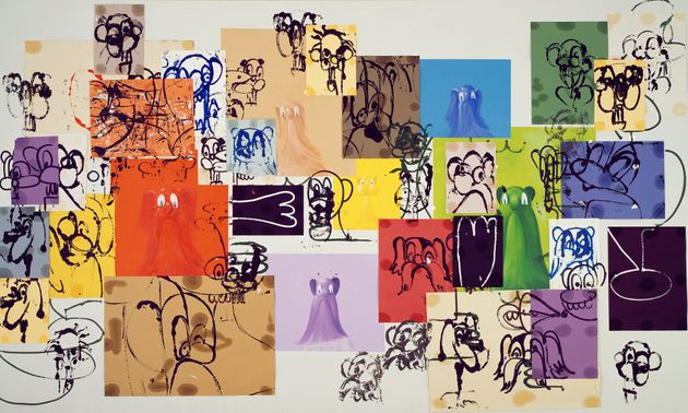 George Condo, «Paper Faces» (1997). Ακρυλικό, λάδι...