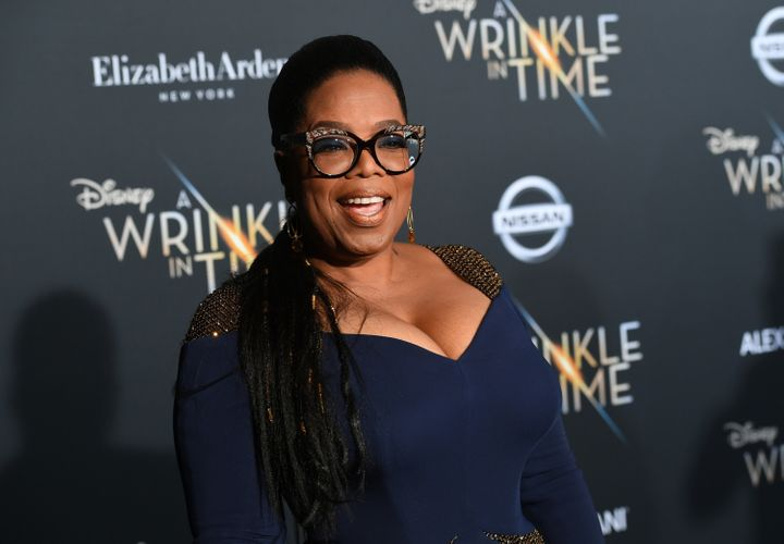 "Oprah at the premiere of her new movie, ""A Wrinkle In Time,"" on Feb. 26 in Los Angeles."