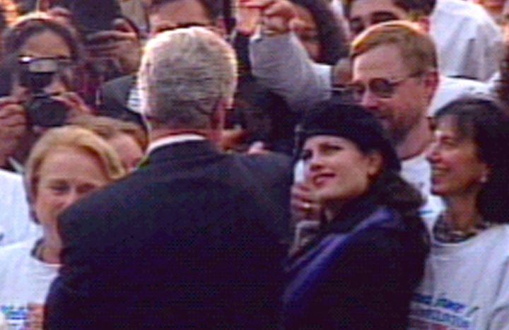 President Bill Clinton and Monica Lewinsky.
