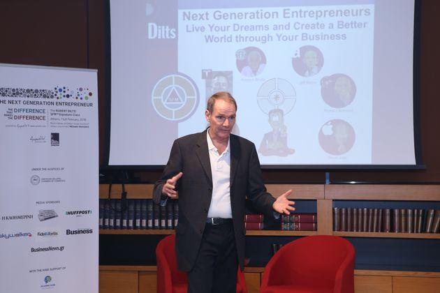 Robert Dilts στους Έλληνες: Πάρτε στοιχεία από το μυαλό των game changers και κάντε τη διαφορά στο δικό...