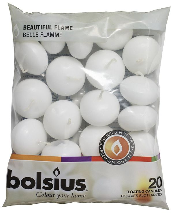 """Get them <a href=""""https://www.amazon.com/Bolsius-Pack-White-Floating-Candles/dp/B0077QFTLK?tag=thehuffingtop-20"""" target=""""_bla"""