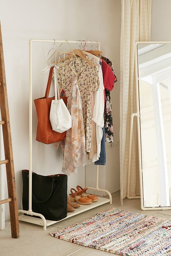 "A clothing rack is an easy solution for adding more storage in tight spaces. <a href=""https://www.urbanoutfitters.com/shop/pi"