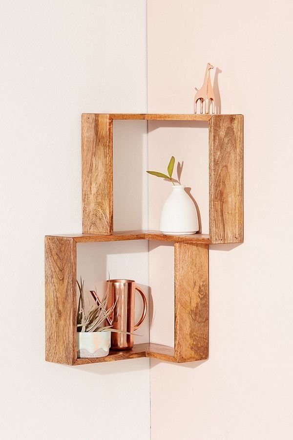"Make the most out of the space you have with <a href=""https://www.urbanoutfitters.com/shop/maggie-corner-wall-shelf?category="