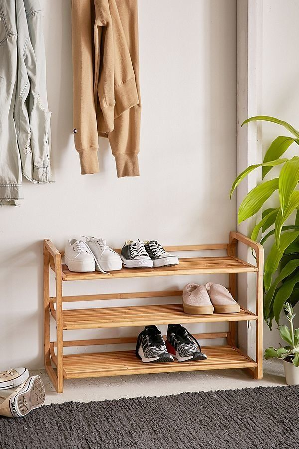 "Keep your storage sleek and stylish with <a href=""https://www.urbanoutfitters.com/shop/bamboo-shoe-storage?category=furniture"