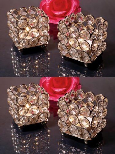 """Get them <a href=""""https://www.amazon.com/Wholesale-Crystal-Tealight-Holders-Centerpieces/dp/B01M01YJ5P?tag=thehuffingtop-20"""""""