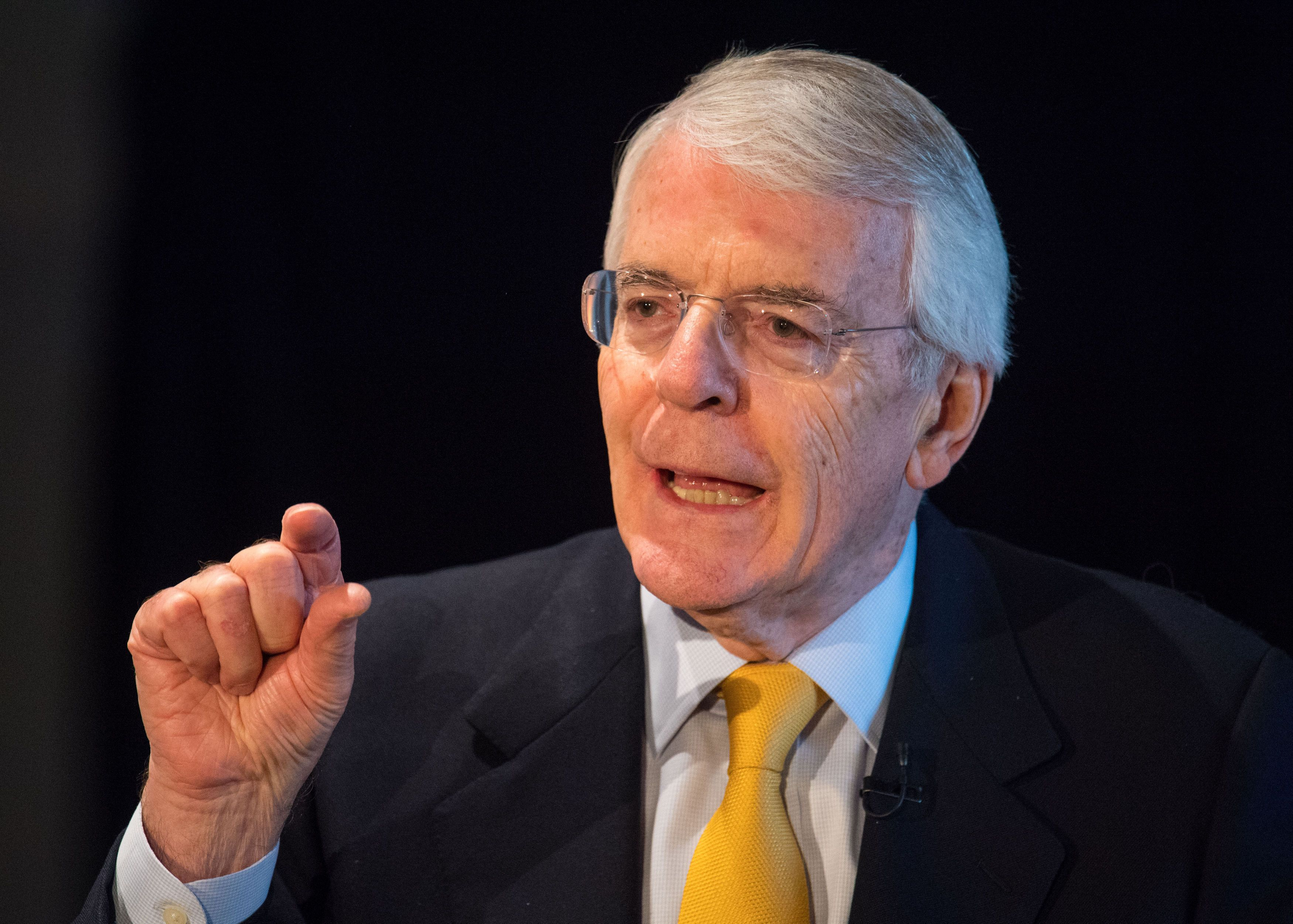 <i>Sir John Major delivered a Brexit speech in London on Wednesday.</i>