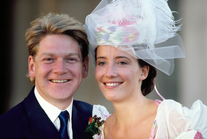 Kenneth Branagh and Emma Thompson on their wedding day in 1989.