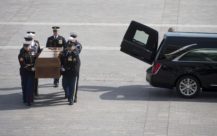 Graham's casket arrives at the U.S. Capitol.